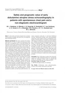 Safety and prognostic value of early dobutamine-atropine stress ...