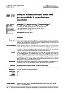 Safety and usefulness of invasive arterial blood pressure monitoring in ...