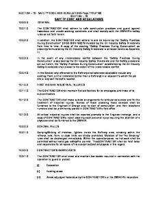 SAFETY CODE AND REGULATIONS