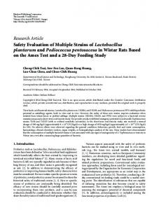 Safety Evaluation of Multiple Strains of Lactobacillus