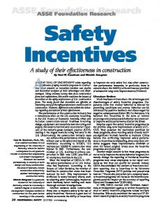 Safety Incentive Programs in Construction - ASSE Foundation