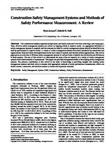 Safety Management, System, SMS, Construction Industry, Safety