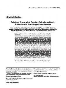 Safety of transradial cardiac catheterization in patients with endstage ...
