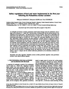 Safety regulations of food and water implemented in ... - BioMedSearch