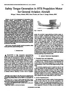 Safety Torque Generation in HTS Propulsion Motor for ... - IEEE Xplore