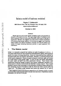 Sakata model of hadrons revisited
