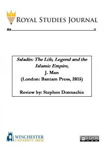 Saladin: The Life, Legend and the Islamic Empire - Royal Studies ...