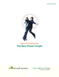 Sales and Marketing: The New Power Couple