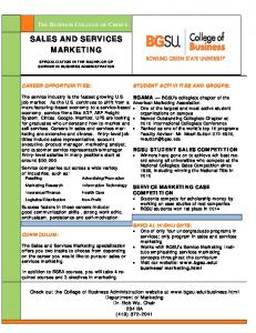 SALES AND SERVICES MARKETING