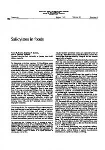 Salicylates in foods