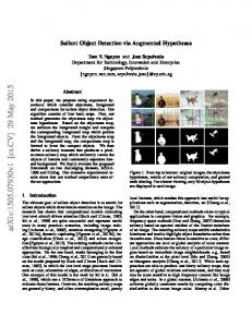 Salient Object Detection via Augmented Hypotheses
