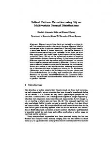 Salient Pattern Detection using W2 on Multivariate Normal Distributions