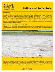 Saline and Sodic Soils - North Central Region Water Network