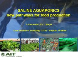 SALINE AQUAPONICS new pathways for food production