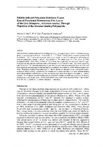 Salinity-induced Potassium Deficiency Causes Loss of Functional ...
