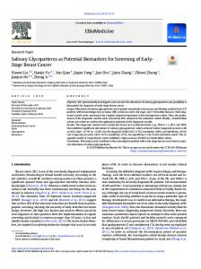 Salivary Glycopatterns as Potential Biomarkers for ... - EBioMedicine