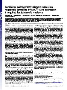 Salmonella pathogenicity island 2 expression negatively controlled by