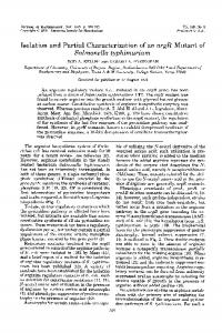 Salmonella typhimurium - Journal of Bacteriology - American Society ...