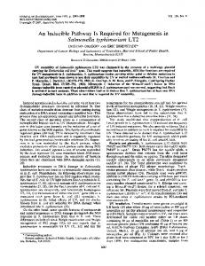 Salmonella typhimurium LT2 - Journal of Bacteriology - American ...