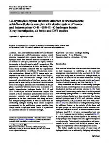 salt crystal structure disorder of trichloroacetic acid ... - Core