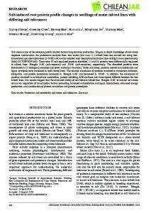 Salt-induced root protein profile changes in seedlings of maize inbred ...