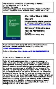 Saltwater Crocodiles as Tourist Attractions