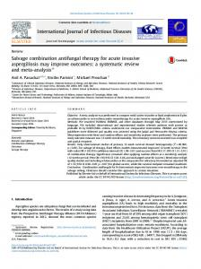 Salvage combination antifungal therapy for acute invasive ... - Core