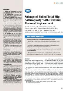 Salvage of Failed Total Hip Arthroplasty With Proximal ... - Healio