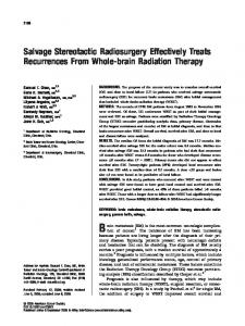 Salvage stereotactic radiosurgery effectively ... - Wiley Online Library