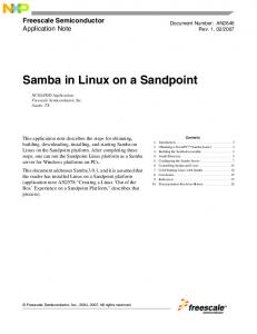 Samba in Linux on Sandpoint - Freescale Semiconductor
