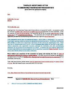 Sample Acceptance Letter Template [pdf]