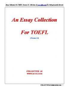 Sample Essays For toefl