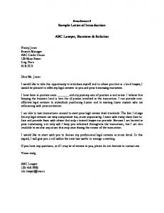 Sample Letter of Introduction ABC Lawyer, Barrister & Solicitor