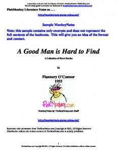 o connor a good man is hard to find pdf