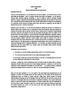 SAMPLE QUESTIONS FOR ENGLISH PROFICIENCY TEST FOR ...