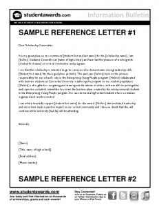 Sample Reference Letters