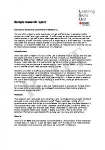Sample Research Report (from RMIT)