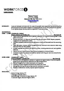 Sample Resume 2