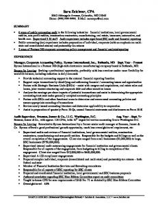 SAMPLE RESUME (Enhanced Chronological format)