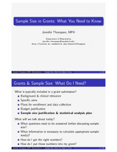 Sample Size in Grants: What You Need to Know