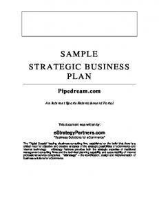 Sample Strategic Business Plan pdf