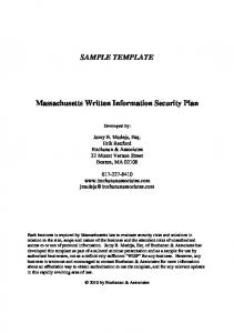 Sample Template Written Information Security Plan