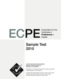 Sample Test 2010