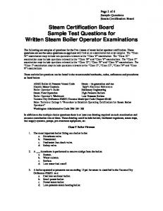 Sample Test Questions - Bates Technical College