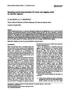 Sampling period determination for heart rate ... - Semantic Scholar