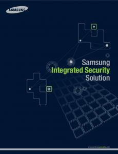 Samsung Integrated Security Solution Samsung Integrated Security ...