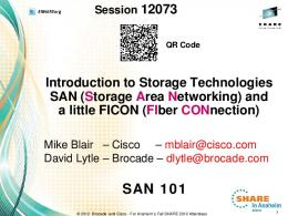 SAN (Storage Area Networking) Overview - Confex
