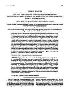 Sand Flies Fauna Involved in the Transmission of Cutaneous ... - SciELO