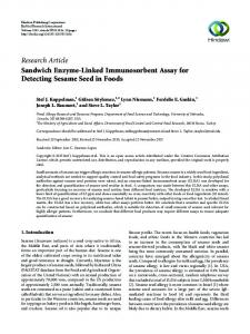 Sandwich Enzyme-Linked Immunosorbent Assay for Detecting ...