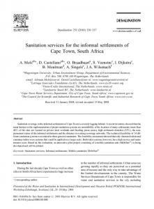 Sanitation services for the informal settlements of Cape Town, South ...